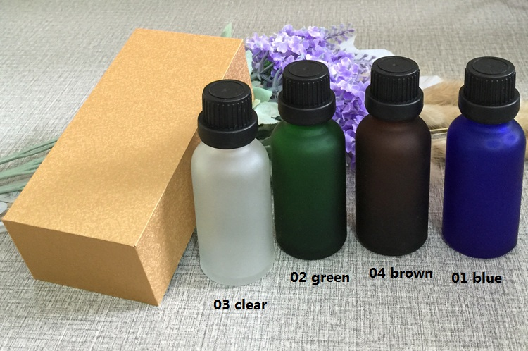 4pcs 30ml High-grade frosted essential oil bottle with wooden box packing black cap glass bottle,lotion cosmetics powder jar cosmetics 50g bottle chinese herb ligusticum chuanxiong extract essential base oil organic cold pressed