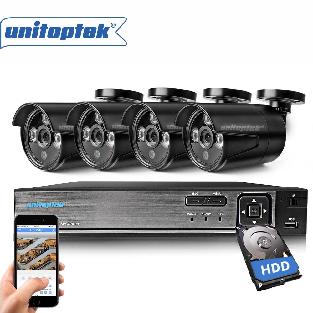 AHD 4CH CCTV System 720P 1.0MP HDMI DVR Kit 1200TVL Outdoor Security Waterproof Night Vision 4 Cameras Video Surveillance Kits цена