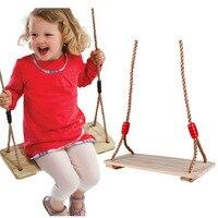 Birch Wooden Baby Kids Swing For Children Plate Toys Outdoor Fun Sports Improve Health