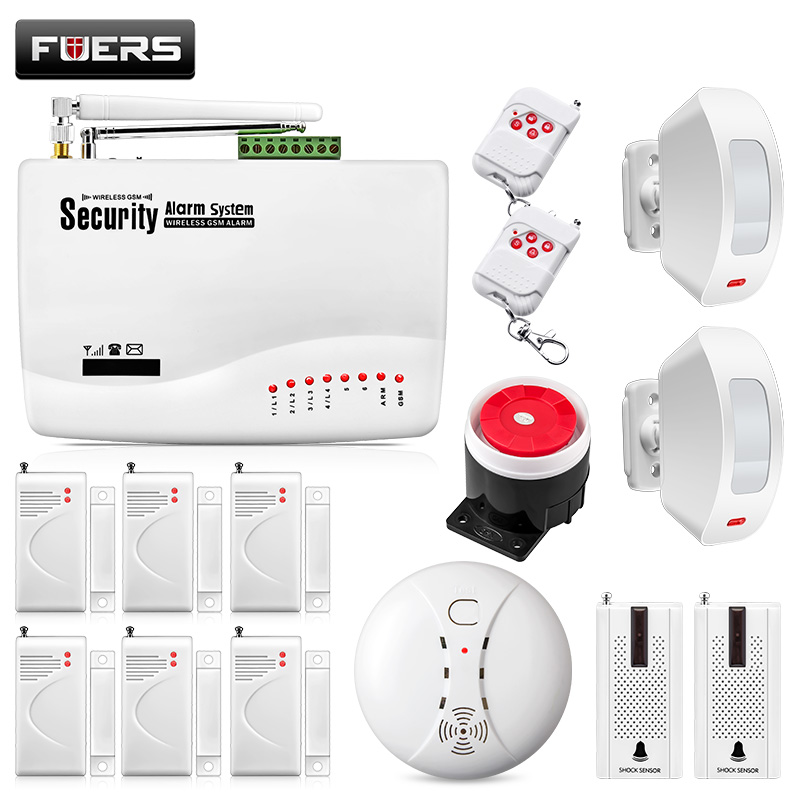Wireless GSM Alarm Systems Security Home Wireless Seguridad Alarma System Suit Alarme Residencial Dual Antenna 10A Alarma Casa