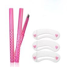 Вращающихся бровей pen леди карандаш карты макияж набор diy инструмент водонепроницаемый