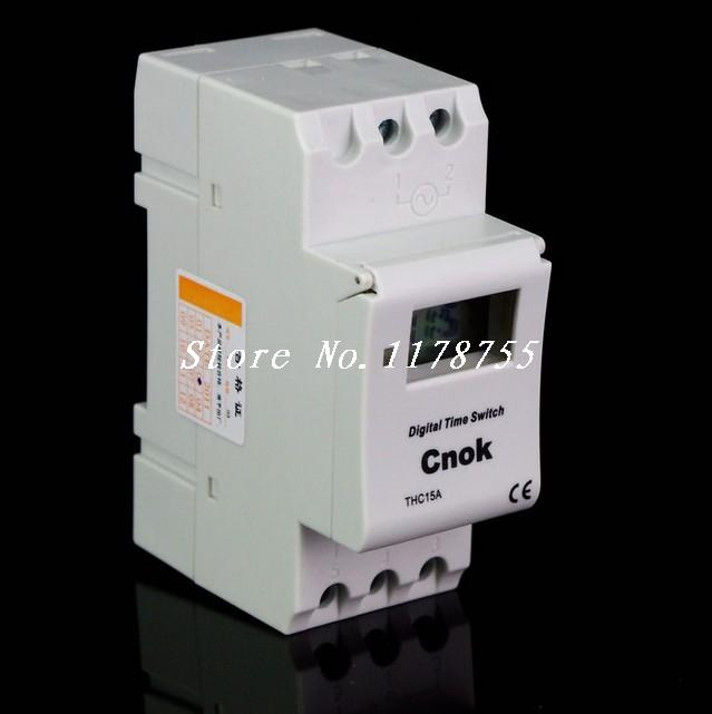 DIN RAIL DIGITAL PROGRAMMABLE Timer 12V 16A TIME RELAY new digital lcd programmable timer 12v dc din rail time relay switch power drop ship