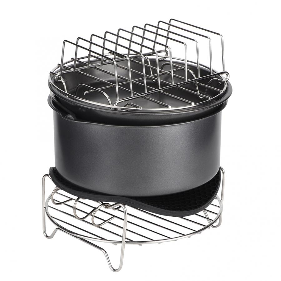 7Pcs/Set Barbecue Air Fryer Accessories Set Kit Parts Home Kitchen Tool for 3.6L Air Fryer 3