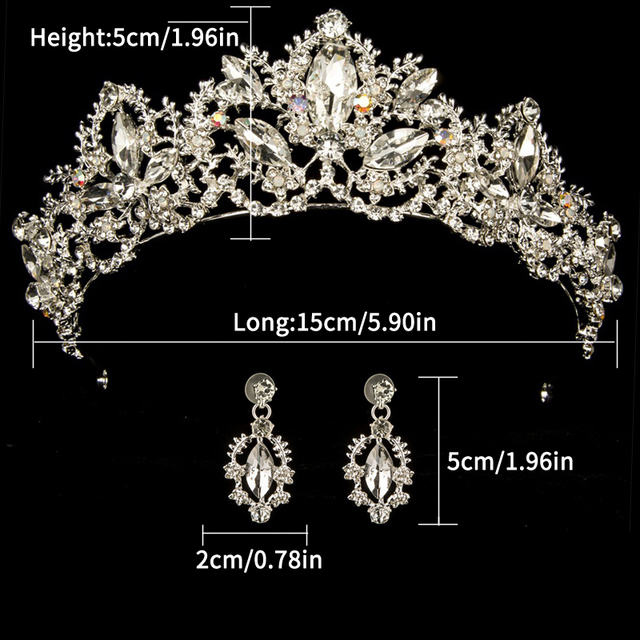 Gold Color wedding crown queen bridal Tiaras leaf bride crystal princess crown headband Wedding Hair Accessories hair jewelry