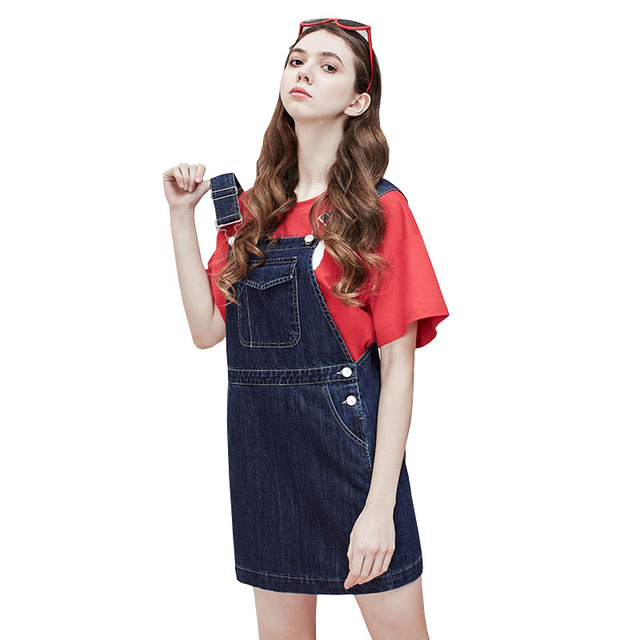YZ Fashion Big Pockets Denim Dress Women 2019 Summer Spaghetti Strap Jeans Dress Ladies Spring Club Party Mini Dress Vestidos
