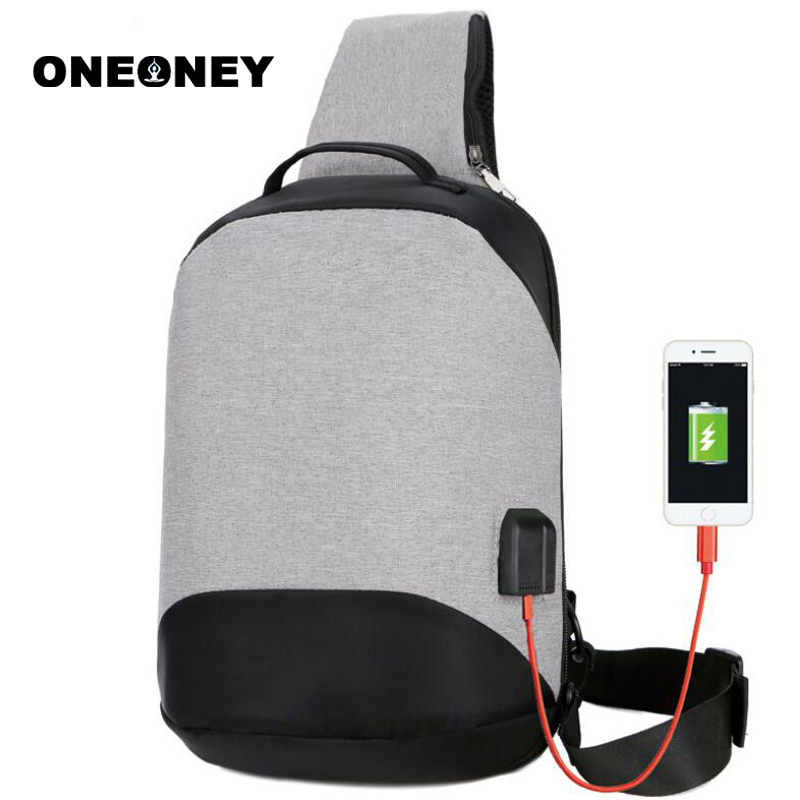 Chest-Bags Mountain-Chest-Pack Small-Sling Single-Shoulder-Bags Waterproof Oxford Usb-Charging