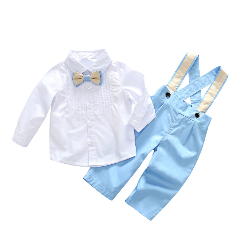 Boys Grey Linen Knicker Outfit Aqua Gingham Bow Tie Baby and Toddlers