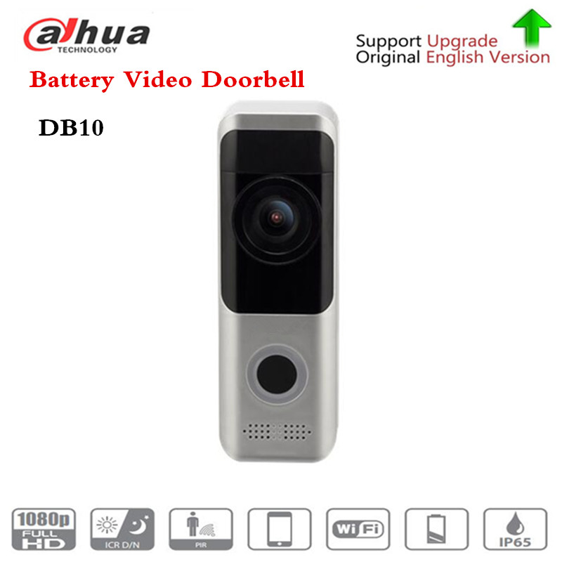 Бесплатная доставка Бренд DB10 видеодомофон батарея видео дверной звонок Wi-Fi ночное видение PIR Обнаружение двойной способ разговора без лого...