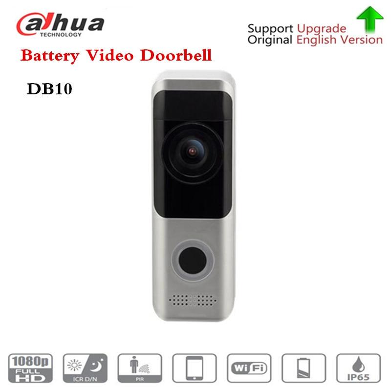 Free Shipping Brand DB10 Video Intercom Battery Video Doorbell WiFi Night Vision PIR Detection Dual-way Talk Without Logo DB10 logo detection