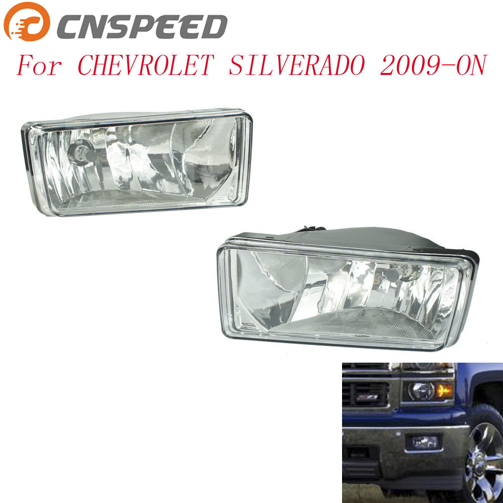 CNSPEED Fog light for Chevrolet Silverado 2009-ON fog lamps Clear Lens Bumper Fog Lights Driving Lamps Daytime Running light car fog lights lamp for mitsubishi triton 2 door 2009 on clear lens pair set wiring kit fog light set free shipping