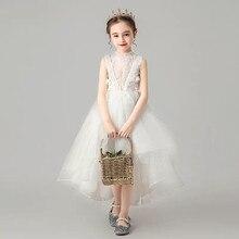Robe Tutu en maille blanche solide pour petites filles