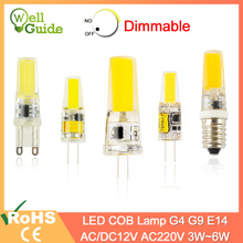 COB Dimmable g4 led bulb g9 led light bulb e14 Lamp bulb AC/DC 12V 220V 3W 5W 6W LED G4 G9 Lamp replace Halogen Lampada 1pc/5pcs