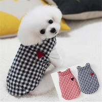Pet Puppy Warm Clothes Winter Plaid Vest Jacket For Dog For Small Dogs Chihuahua Pug Poodle Cotton Costume Clothing Overalls