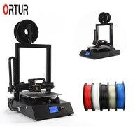Новое поколение всех металлических 3D принтеров большого размера печати Ortur 4 линейной направляющей 3 D принтер с бесплатными нитями TF карта