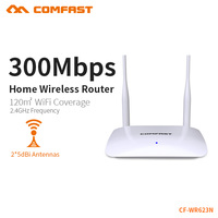 COMFAST 가정용 라우터 300Mbps 2.4GHz 고 신호 무선 2 * 5dBi 외부 안테나 홈 네트워크 포인트 액세스 CF-WR623N
