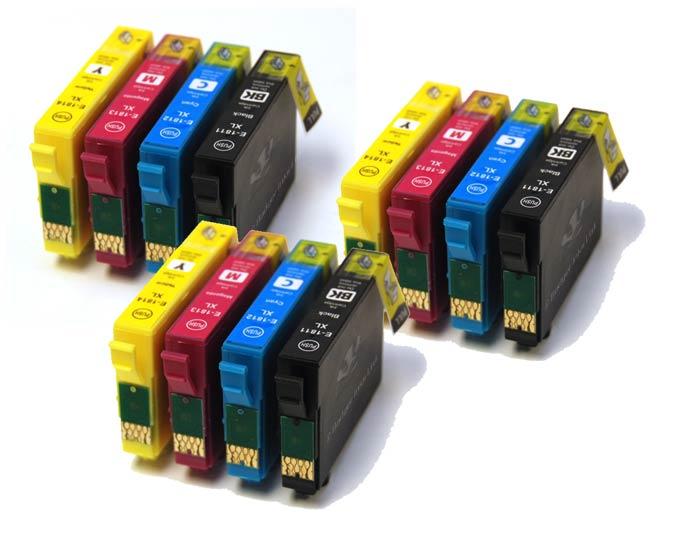 2016 nuovo [hisaint] 18xl t1816-3 set completo compatibile cartucce di inchiostro t1811 t1812 t1813 t1814