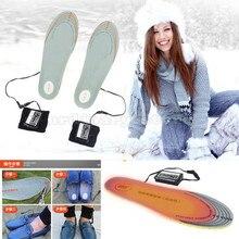 -To-Fit 36-46 Размеры 3600 мАч Перезаряжаемые Батарея питание Подогрев Зимние Стельки Обувь pad утеплитель для ног уличная Рабочая лыжный