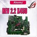 Материнская плата X45U REV 2 2 с процессором AMD для For Asus A45U X45U материнская плата для ноутбука 60-NAOMB1401-D01 100% протестированная Рабочая Бесплатная до...