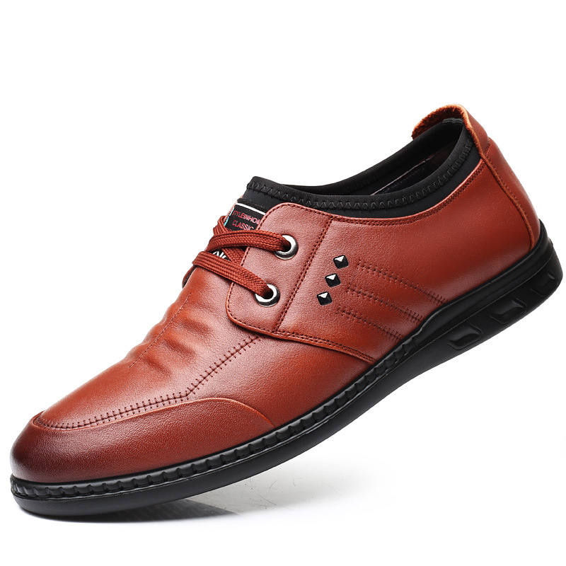 Nueva Los De negro Diseñador Suave Brown Redonda Suela Cuero Cabeza Piel Moda Vaca Hombres 3180 Zapatos Casual CAIwdAq