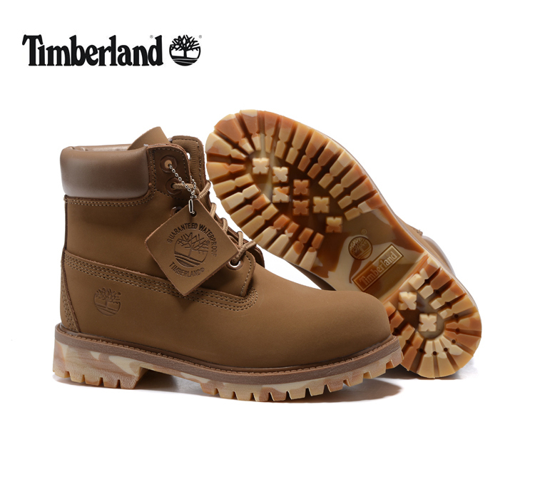 TIMBERLAND Men Unique 10061 Military Camouflage Bottom Outdoor Boots,Men's high-top Leather Ankle Light Brown Casual Shoes 40-45