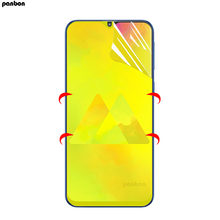 For Samsung Galaxy M10 M20 M30 Hydrogel Screen Protector Full Coverage Soft nano Film A7 A6 A8 Plus 2018 A8S A9S A6S(China)