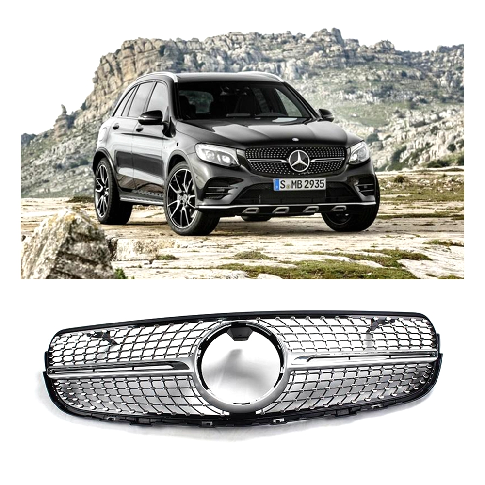 Refitting car vehicle parts all star diamonds style grill for Car parts for mercedes benz