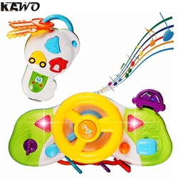 Kawo cartoon simulation pretend to drive steering wheel toy with music sound effect and flasing light.jpg 250x250