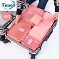 Timed 2017 novo 6 pcs conjunto saco de armazenamento de viagem roupas de underwear socks saco de armazenamento organizadores embalagem sacos de bagagem de viagem essencial