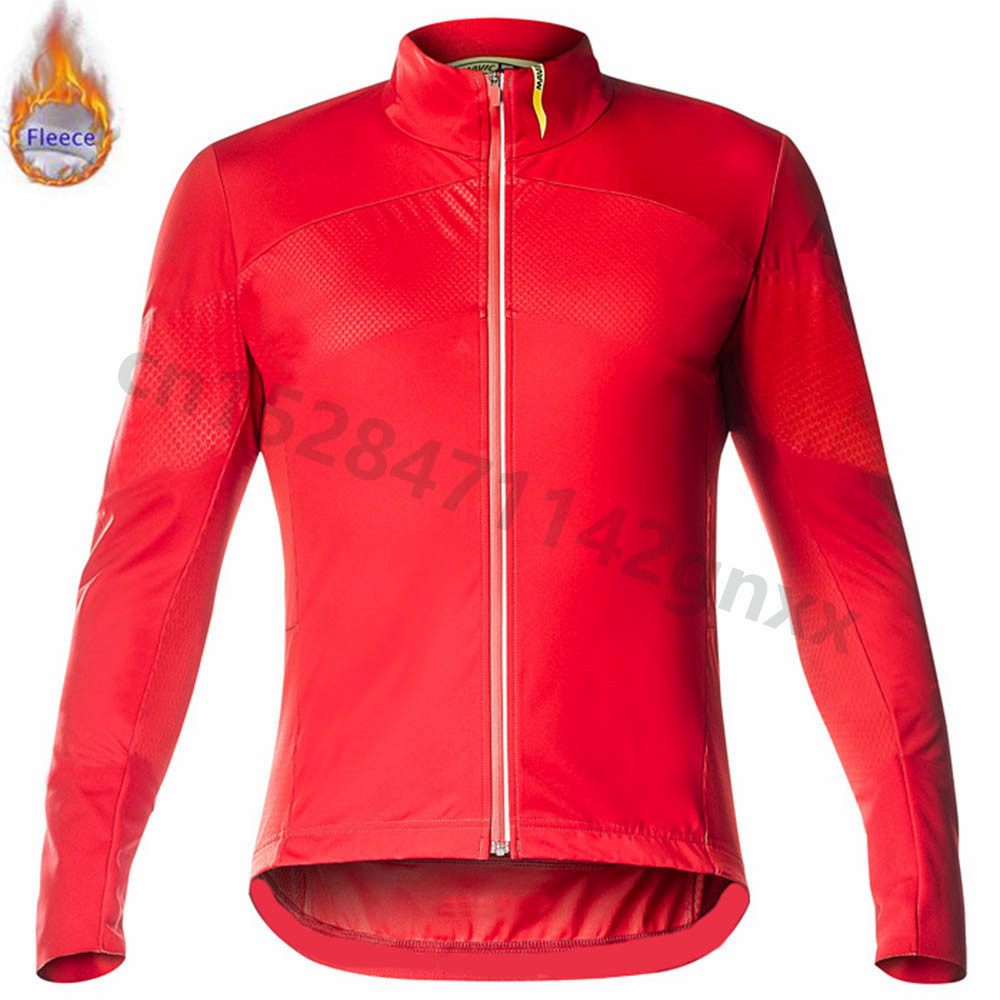 Mavic Pro team Winter Thermal Fleece Cycling Jersey Long Sleeve MTB Bicycle Clothing Maillot Ropa Ciclismo Invierno Bike Clothes in Cycling Jerseys from Sports Entertainment