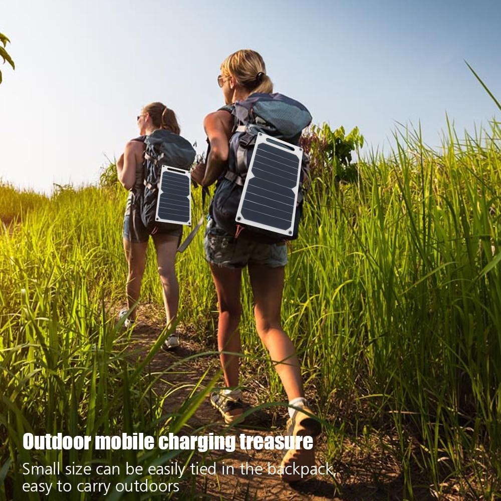 Portable 5 v 10 w D'urgence Solaire Banque Panneau Solaire Puissance de Charge Chargeur de Panneau Module USB Pour Mobile Téléphone Intelligent samsung