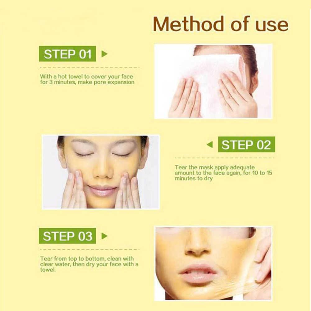 120g/60g 24K oro amarillo colágeno Facial Peeling mascarilla removedor de espinillas antiarrugas tratamiento de acné para el cuidado de la piel TSLM1