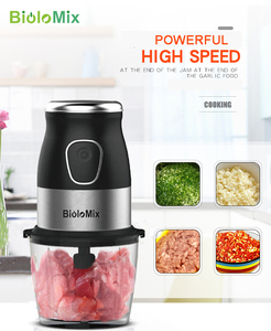 Image 5 - Ad alta Velocità Multi Funzione 500W Robot da Cucina a base di Carne Smerigliatrice Portatile Mini Personal Blender Mixer Spremiagrumi Secco Smerigliatrice 800ml chopper