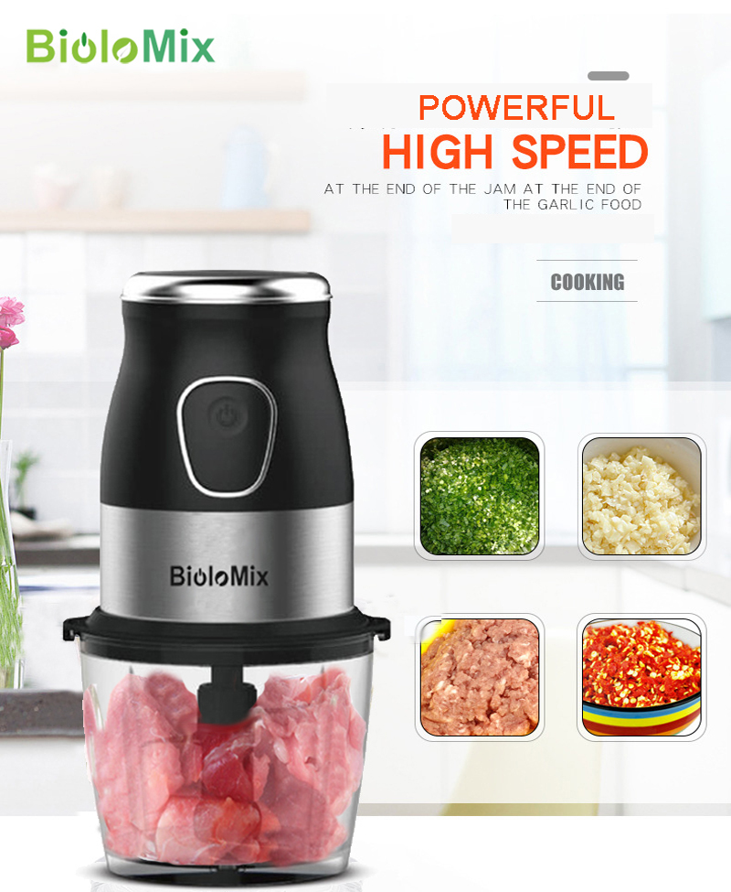 Image 5 - High Speed Multi Function 500W Food Processor Meat Grinder Portable Personal Mini Blender Mixer Juicer Dry Grinder 900ml Chopper-in Blenders from Home Appliances