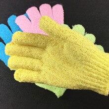 Пять пальцев банное полотенце в виде перчатки для ванны душ яркие цвета мытье тела спа ванна скруббер Чистая щетка банные принадлежности многоцветный