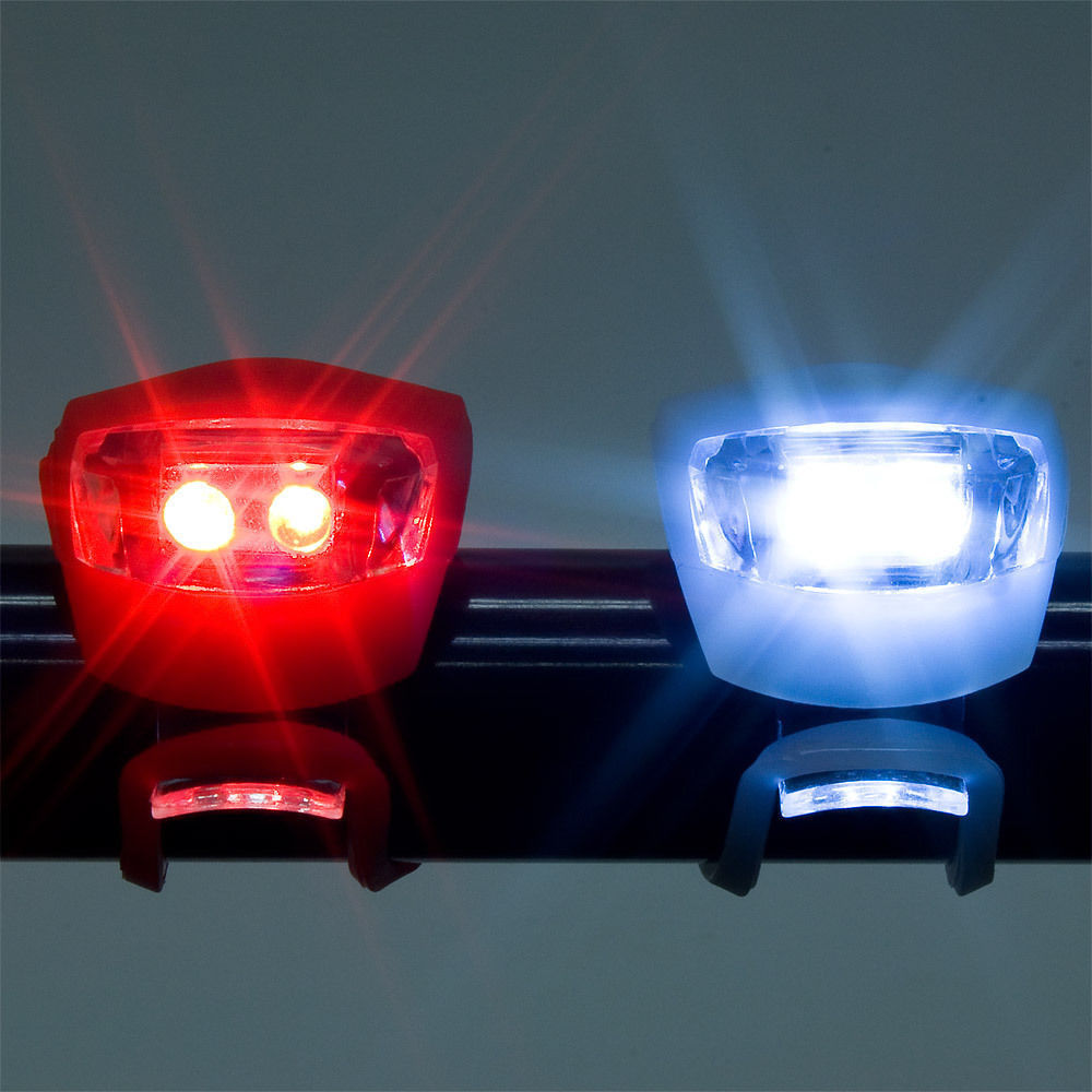 Bicycle Light Front Rear Silicone LED Bike Light Set  Bike Headlight and Taillight Waterproof & Safety Road,Mountain Bike Light
