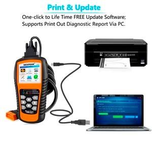 Image 5 - Nexpeak nx501 obd2 scanner automotivo motor do carro ferramenta de diagnóstico completa obd 2 protocolos análise dados suporte impressão/atualização