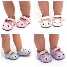Fashion Leather Shoes Fits 18 Inch Doll 43CM Dolls Baby DIY For 40cm 38cm Accessories  Girl Gift