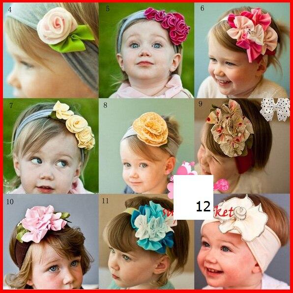 Bebé Infantil Kids Niños Niñas Venda Principal Del Pelo Decoración Multi Estilo Flores Venda Elástico Headwear