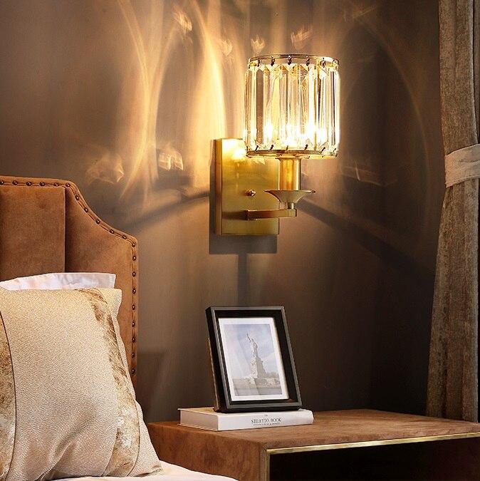 Медный настенный светильник, современный светодиодный светильник для спальни, настенный светильник, модный светильник, подсветка для зерк