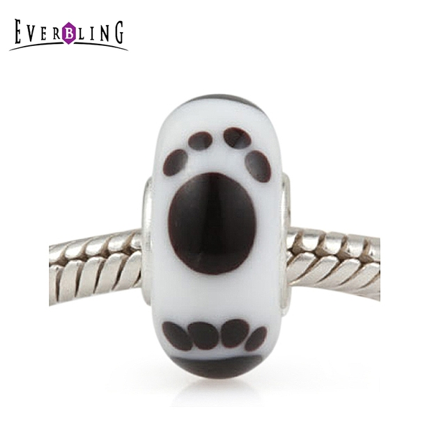 [Sponsored]Dog Paw Print Silver Charm Bracelet Bead - Sterling Silver 925 3EGSyioMqk