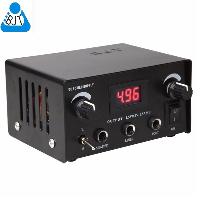 10pcs Bjt Tattoo Power Supply Led Digital Dual Tattoo Machine Tattoo