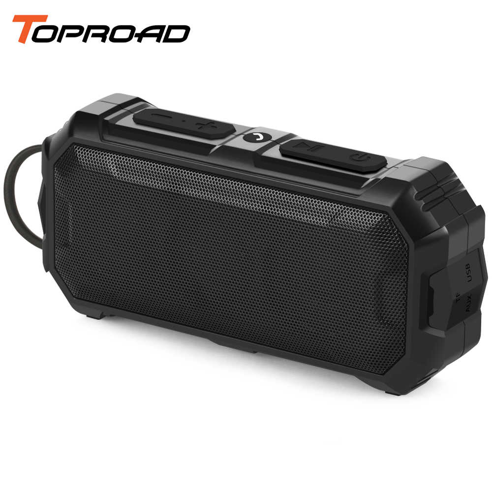 TOPROAD Outdoor Bluetooth Speaker Wireless Stereo Double Bass Waterproof Speakers Support TF AUX in Handsfree Music Sound Box
