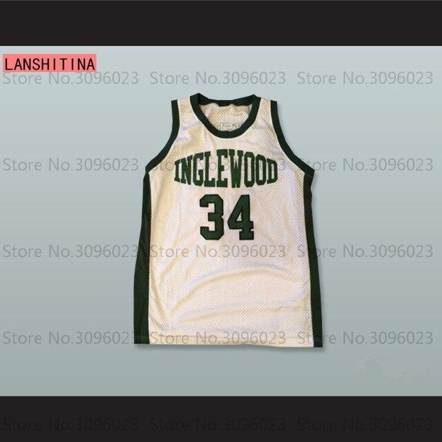 Paul Pierce 34 Inglewood High School White Black Basketball Jersey ... 62b4b048c