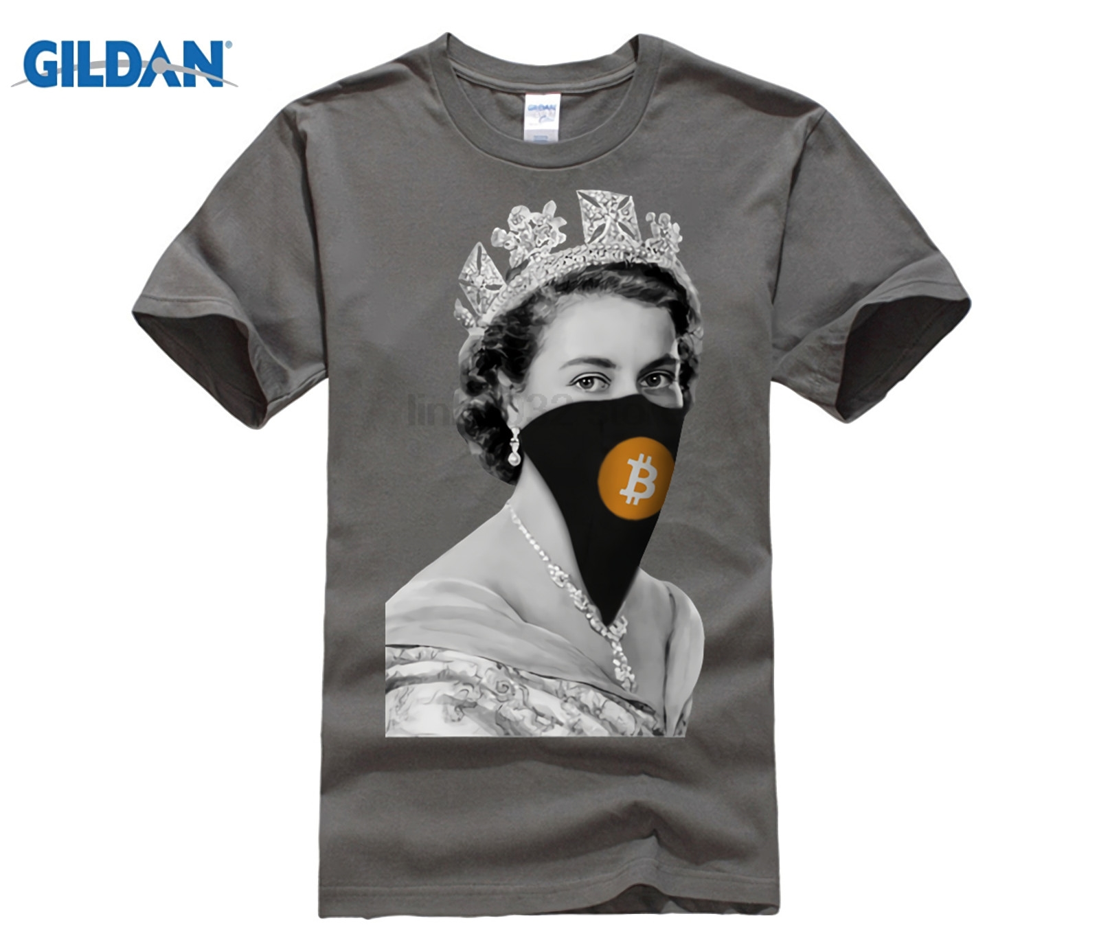 7206b456 Funky T-Shirt Queen Bitcoin Bandit Funny Tees Male Round Neck Short Sleeve T  Shirt