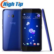 Orijinal Unlocked HTC U11 GSM 3G 4G 4GB RAM 64GB ROM parmak izi NFC Android cep telefonu Octa çekirdek 5.5