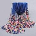 2017 bufanda de la gasa de las mujeres de la bufanda de seda de primavera y otoño de seda de la venta caliente de las mujeres patrones de seda de emulación de verano de protección solar cape