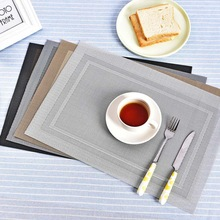 4Pcs/Lot European Restaurant Placemat Home PVC Waterproof Non-slip Table Mat Washable Quick-drying Heat Insulation Pads Coasters
