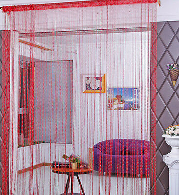 Image 4 - Fashion String Window Door Curtain Backdrop Blind Panel Tassels Valance Room Decor Living-in Curtains from Home & Garden