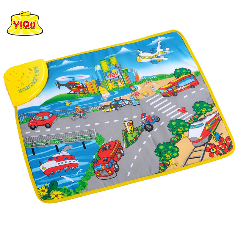 Free shipping Kids toys Play rugs Musical developing play mats Car sounds