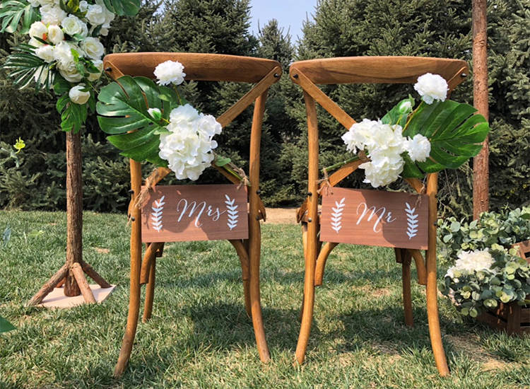JAROWN New Chair Back Flower Artificial Silk Rose Flower Wedding Banquet Bridesmaid Holding Flowers Decoration Photography Props (15)